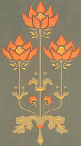 "The source image for the poppy motif from Christopher Dresser's ""Studies in Design"", c. 1875."