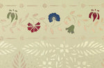 Load image into Gallery viewer, Close up this floorcloth's charming floral border, based on a pattern found in the Edward Durant House in Newton, MA, c1734.
