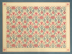 Load image into Gallery viewer, This is the full image of this floorcloth with a floral motif with a lattice of roses.