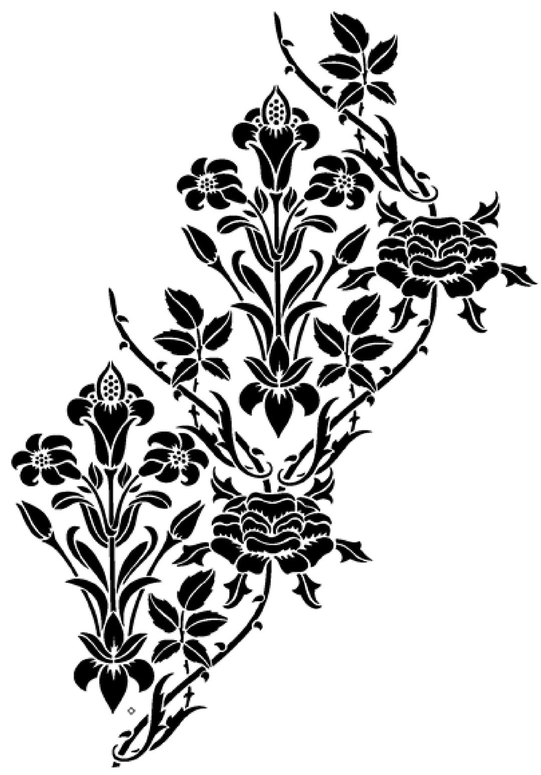 The stencil design from The Stencil Library.