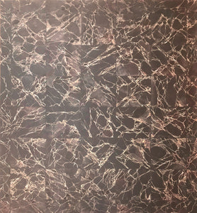 This floorcloth is based on Emperador Dark marble tile.