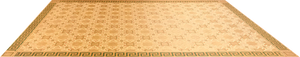 This is the full image for this 300 square foot floorcloth, based on a design by Christopher Dresser.