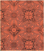 "Load image into Gallery viewer, This is the illustration from Christopher Dresser's ""Studies in Design"", c. 1875, which is the source for this floorcloth's pattern."