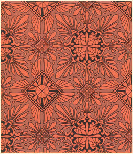 "This is the illustration from Christopher Dresser's ""Studies in Design"", c. 1875, which is the source for this floorcloth's pattern."