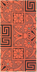 "Load image into Gallery viewer, Source image for this floorcloth from Christopher Dresser's ""Studies in Design"" c. 1875."