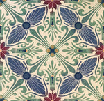 Load image into Gallery viewer, Close up of Greek Windmills floorcloth.