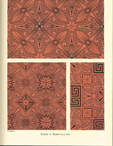 "Source material for this pattern from Christopher Dresser's ""Studies in Design"" c.1875."
