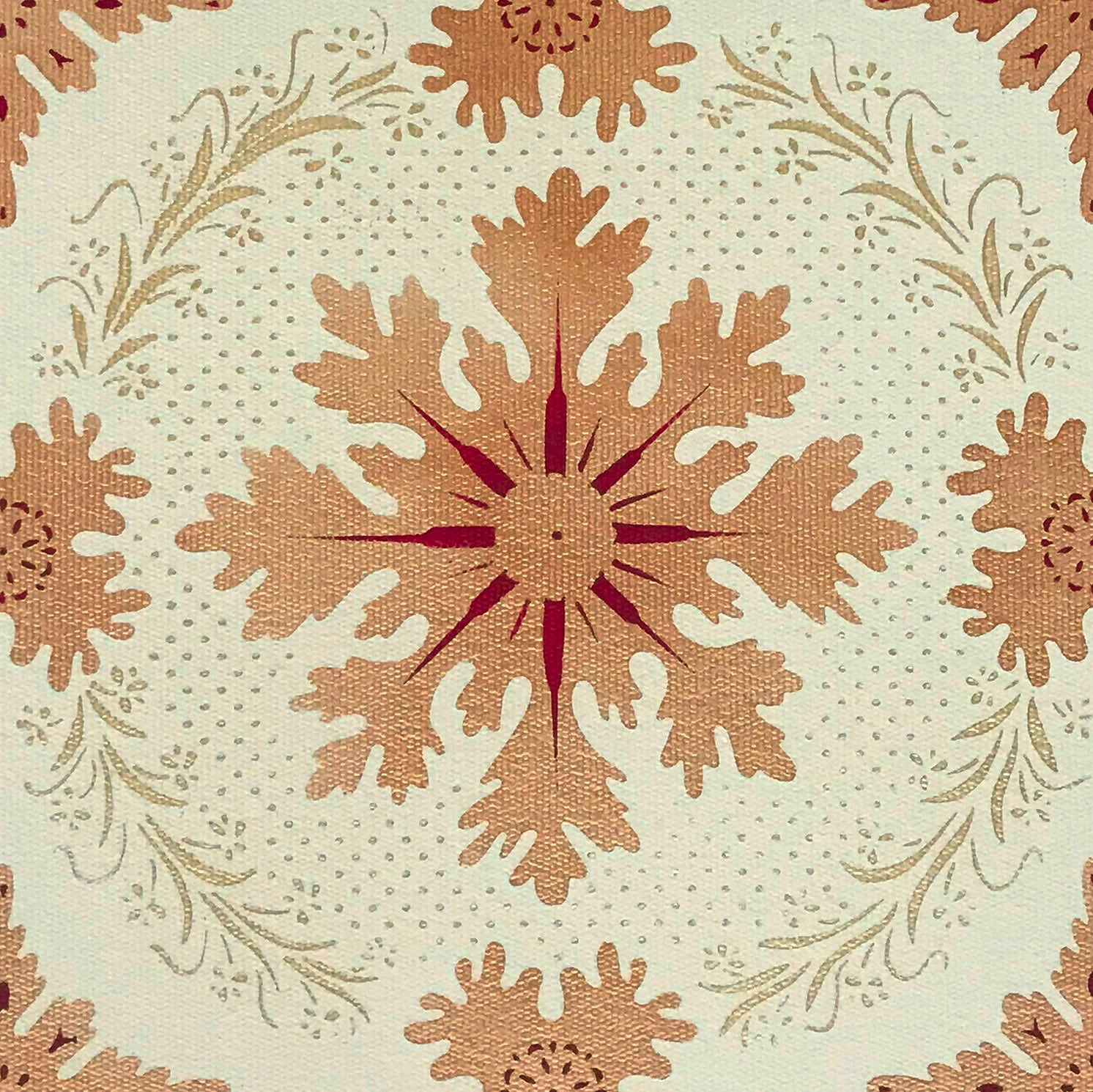 Close up image of this truly unusual pattern.