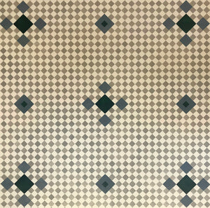 This is a close up of the pattern, mimicking the original, with seven diamond spacing between elements and the pattern on the diagonal.