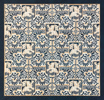 Load image into Gallery viewer, This is a full image of this floorcloth, based on a wallpaper pattern, c.1886, from the A.W.P.M.A. (American Wallpaper Manufacturer's Association).
