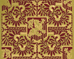 Load image into Gallery viewer, The source image for this fabulous floorcloth pattern. Based on wallpaper produced by the A.W.P.M.A., c. 1886.