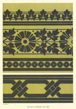 "Load image into Gallery viewer, Source image for this floorcloth from Christopher Cresser's ""Studies in Design"" c. 1875."