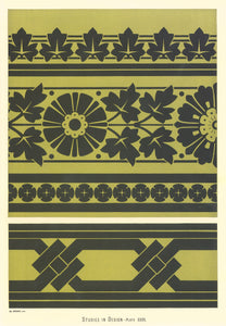 "Source image for this floorcloth from Christopher Cresser's ""Studies in Design"" c. 1875."