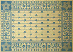 Load image into Gallery viewer, This is the full image of this shaped floorcloth, based on a design by Christopher Dresser, c.1875.