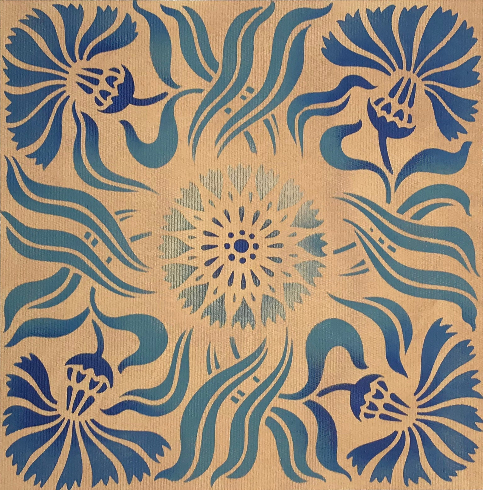 The Collection image for this Thistle Tile pattern.
