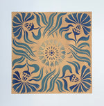 Load image into Gallery viewer, A close up of the Thistle Tile motif.