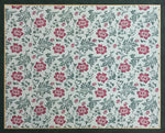 Load image into Gallery viewer, Full image of this floorcloth based on a lovely all-over floral pattern that is organic in its execution, creating a carpet of blooms, buds, and leaves.