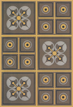 "Load image into Gallery viewer, This is the source image for this floorcloth from Christopher Dresser's ""Studies in Design"" , c. 1875."