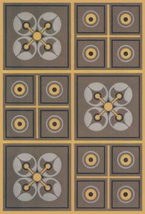 "This is the source image for this floorcloth from Christopher Dresser's ""Studies in Design"" , c. 1875."