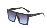 Square Sunglasses Flat Top One Piece Lens