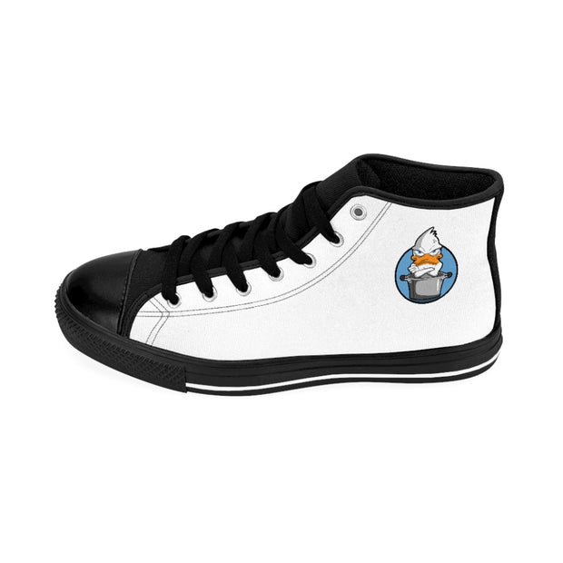 Men's High-top Sneakers Blue Duck
