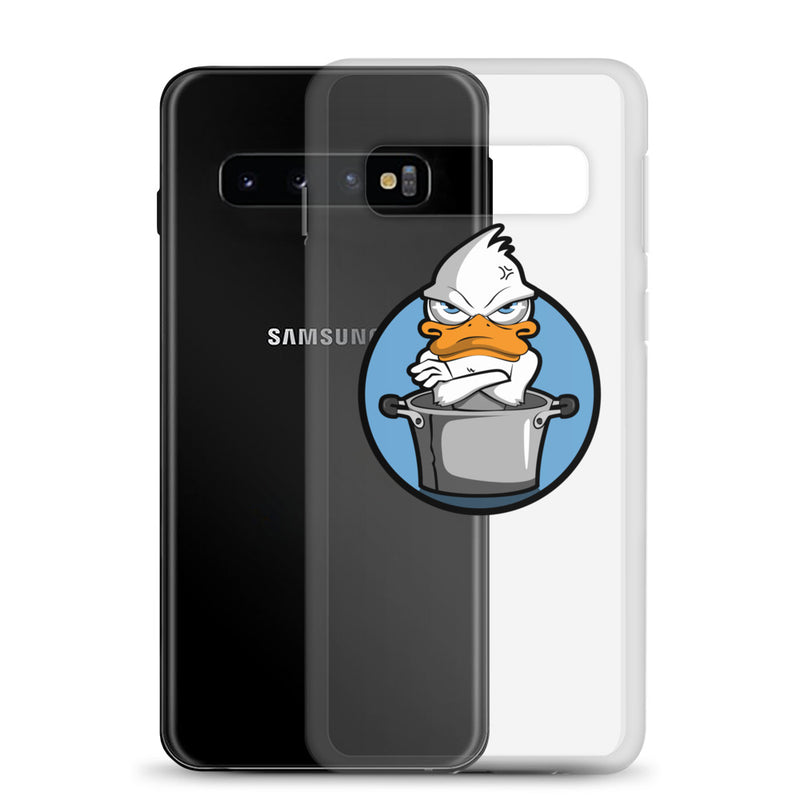 Samsung Case Angry duck blue