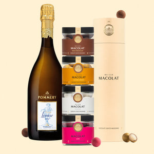 Load image into Gallery viewer, 4 Jar Macolat Tower & Pommery Cuvée Louise 2004 Gift Set