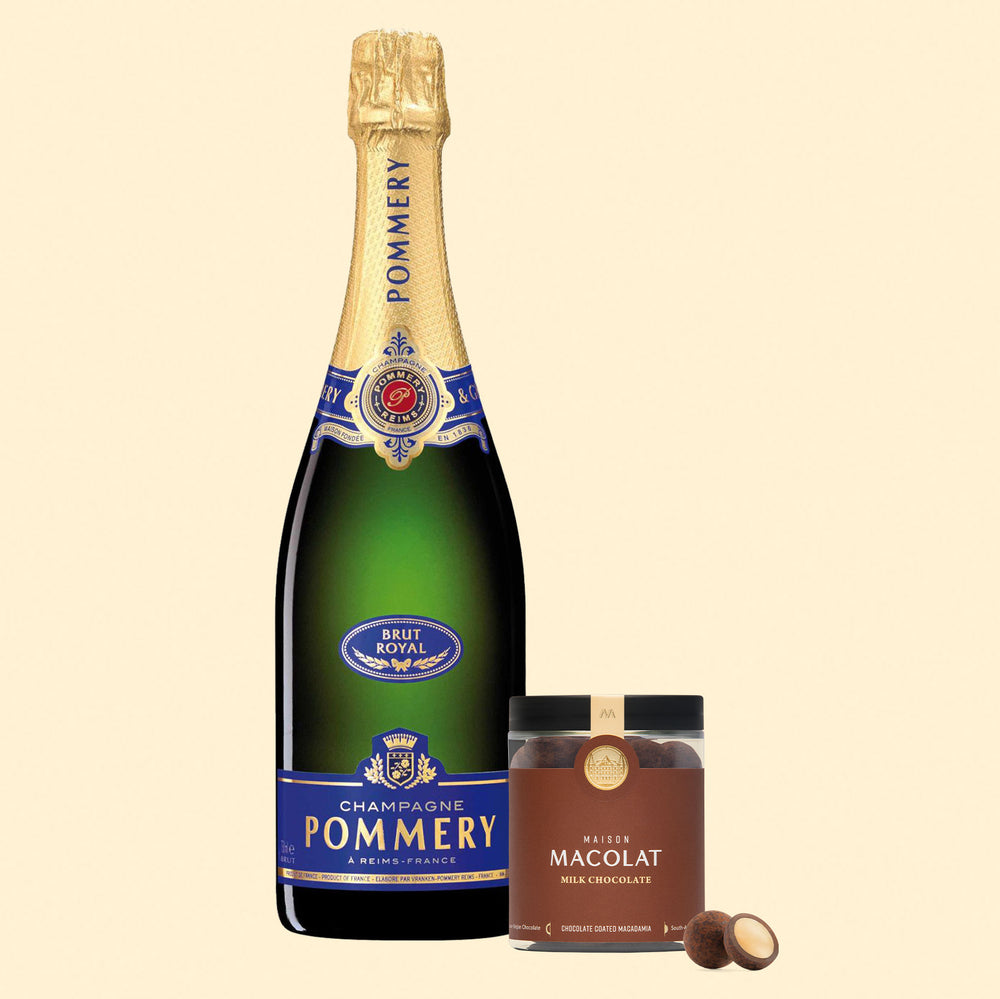 Milk Chocolate Macolat & Pommery Brut Royal Gift Set