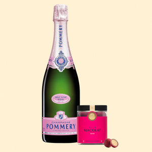 Load image into Gallery viewer, Ruby Chocolate Macolat & Pommery Brut Rosé Royal Gift Set