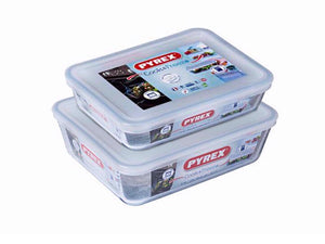 Pyrex 2 Piece Cook & Freeze Glass Food Containers