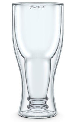 Final Touch - Bottoms Up Beer Glass 400ml 13.5oz