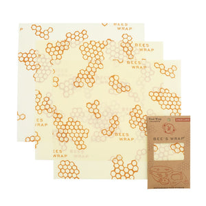 "Bee's Wax Wrap Set of 3 Large  13""x14"""