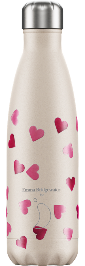 Chilly's Bottle 500ml Emma Bridgewater - Hearts
