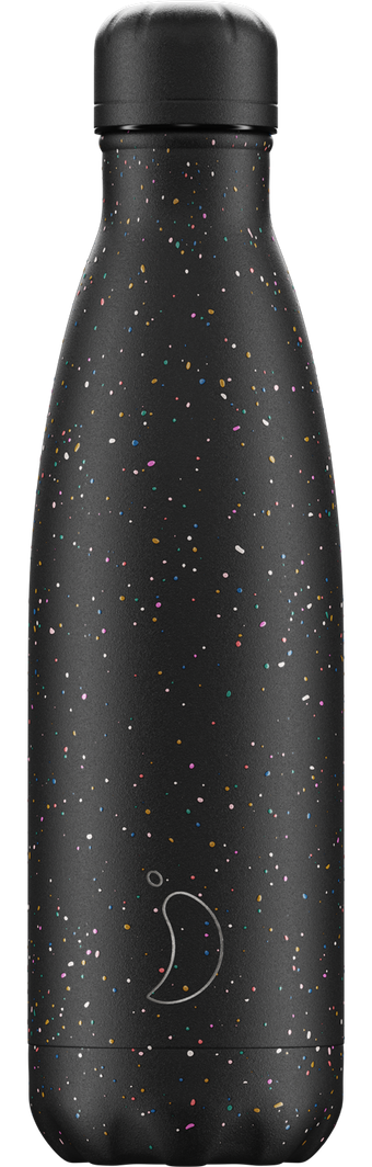 Chilly's 500ml Speckled Black Water Bottle