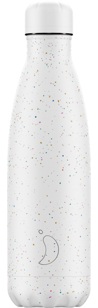 Chilly's 500ml White Speckled Water Bottle