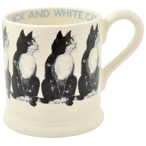 Emma Bridgewater - Black & White Cat Half Pint Mug