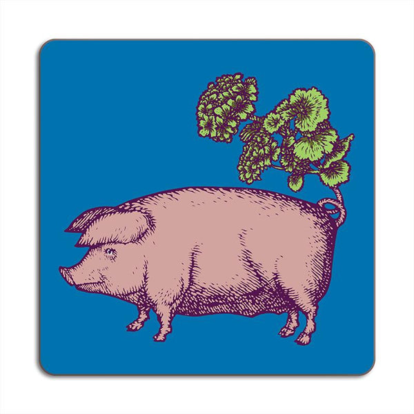 Pig Animaux Square Placemats