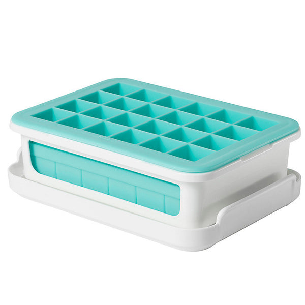 Covered Silicone Ice Cube Tray