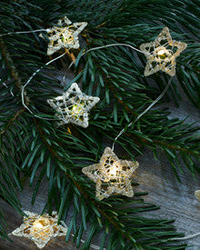 Sirius - Edith Star Tree Lights - Gold/Glitter
