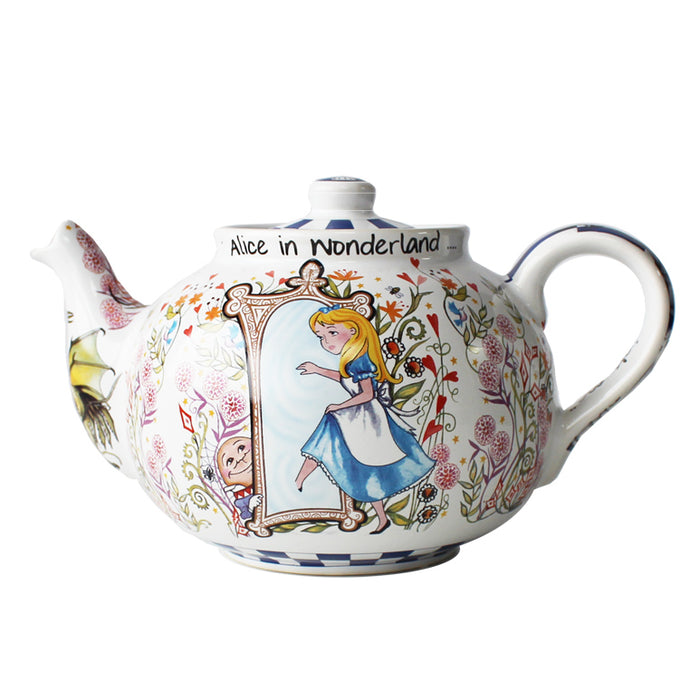 Alice Through The Looking Glass China Teapot