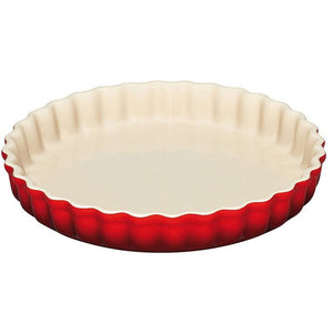 Le Creuset Cook Special - 28cm Fluted Flan Dish - Cerise