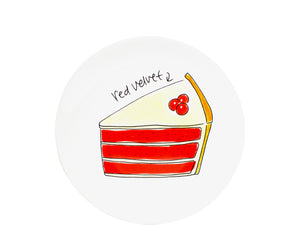 Blond Blah - Snack Plate 18cm Red Velvet Cake