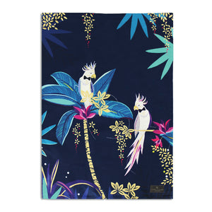 Sara Miller  - Tahiti Cockatoo Placement Blue - Tea Towel