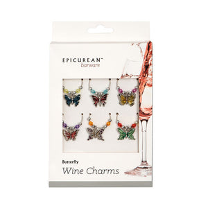 Butterfly Wine Charms