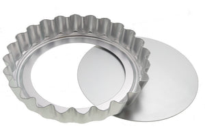 "Alan SilverWood - 8"" Loose Base Fluted Flan Tray"