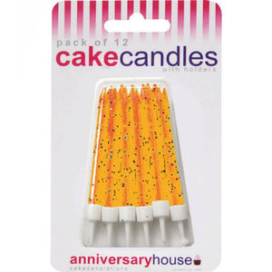Anniversary House - Orange Glitter Candle