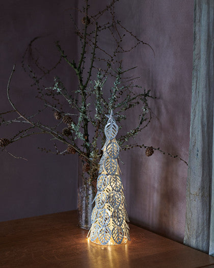 Sirius - Kirstine Tree 43cms 15Lights Silver