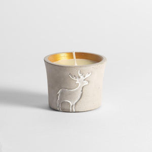 St Eval Candle Co - Christmas Reindeer Pot Orange & Cinnamon
