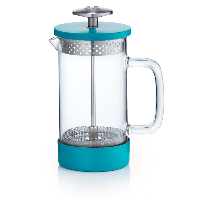 Barista & Co Core Coffee Press Project Waterfall - Teal 3 Cup