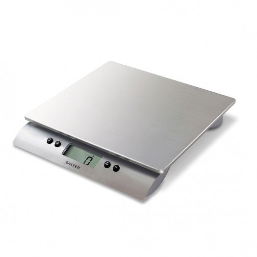 SALTER - AQUATRONIC S/STEEL ELETRONIC KITCHEN SCALE